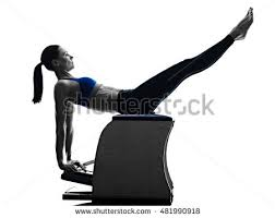 Pilates Chair Exercises Man Pilates Chair Exercises Fitness Isolated Stock Photo 380251477