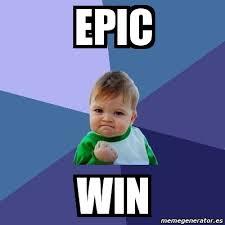 Epic Win Meme - meme bebe exitoso epic win 2080345