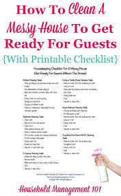 house checklist housekeeping checklist for a messy house get ready for guests