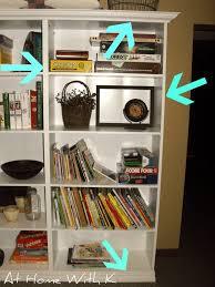 at home with k custom bookshelf