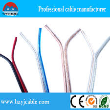 1 5mm2 transparent speaker cable red and black parallel cable
