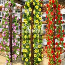Wedding Home Decoration Discount String Simulation Artificial Flowers Vine Arch Wall