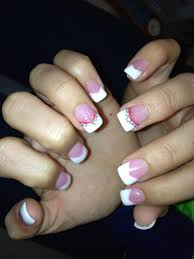 how to do a pink and white french manicure manicure pinterest