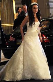 blair wedding dress leighton meester as blair waldorf in wedding dress on
