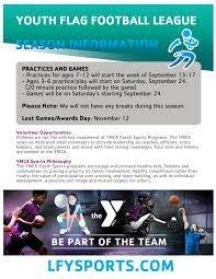 Youth Flag Football Practice Upcoming Sports Lakeland Family Ymca Y Gametime