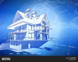 blueprint for house architecture design blueprint 3d vector photo bigstock