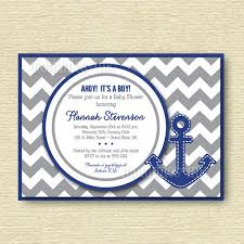 anchor baby shower preppy chevron anchor baby shower invitation gray and blue