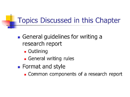A General Guide to Report Writing