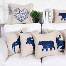 Decorative Pillows For Sofa by Geometric Animal Throw Pillows For Home Decoration Linen Sofa