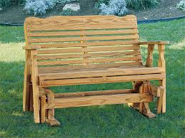 amish pine wood westchester glider bench from dutchcrafters amish