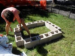 building a raised garden bed with cinder blocks home outdoor