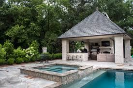 Pool House Cabana by Landscape Design Sgk Landscapes