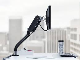 steelcase fyi single flat panel monitor arm height adjustable desk