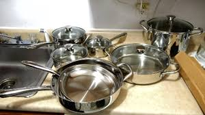 Stainless Steel Kitchen Set by Wolfgang Puck 15 Piece Stainless Steel Cookware Set Haul Youtube