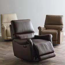 swivel recliner brown leather swivel recliner