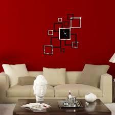 designer wall 3d home diy mirror designers wall clock