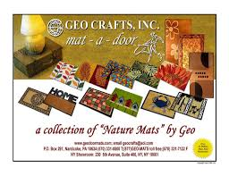 geo crafts catalog of welcome mats door mats area rugs and carpets