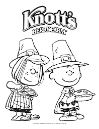 peppermint patty and brown thanksgiving coloring pages