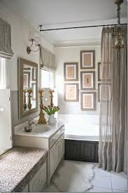 Suspended Curtain Rail Love The Linen Shower Curtain And Rod Hung From Ceiling Home