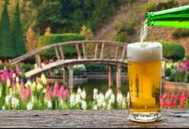 enjoy beer with waterfall landscape stock photo picture and