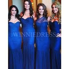 royal blue bridesmaid dresses shop discount mermaid ruched sleeveless royal blue bridesmaid