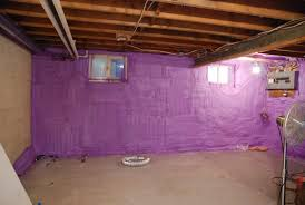 Basement Wall Insulation Options by Purple Color Insulating Basement Walls After Framing With