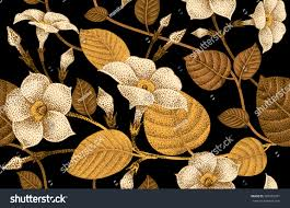 climbing plant ivy seamless floral pattern stock vector 387052921