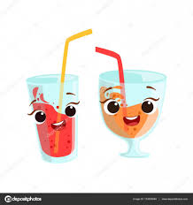 birthday drink sweet drinks in glasses kids birthday party happy smiling animated