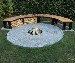garden fireplace with bench 13 steps with pictures