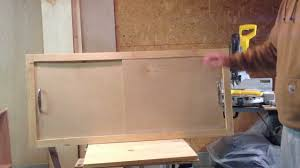 How To Make Cabinet Door Sliding Cabinet Doors How To Make A Sliding Cabinet Faceplate And