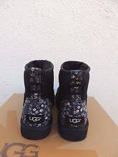 womens sheepskin boots size 11 ugg s mini liberty floral suede sheepskin boots
