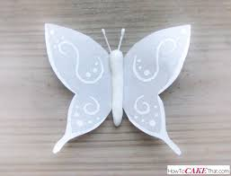Butterfly Cake Decorations On Wire White Wafer Paper Butterfly Tutorial How To Cake That