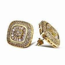 gold earrings for marriage club factory 925 silver jewelry top grade cz brincos antique stud