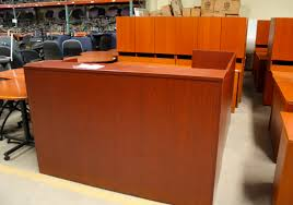 L Reception Desk by Savvi Commercial Furniture Used Office Reception Houston
