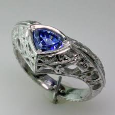 benitoite engagement ring benitoite platinum engagement ring strictly custom mardon jewelers