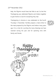 story of thanksgiving the story of thanksgiving worksheet free esl printable