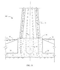 Pedestal Foundation Patent Us8661752 Foundation With Slab Pedestal And Ribs For