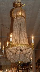 Antique Baccarat Chandelier 19th C Empire Bronze And Baccarat Chandelier For Sale