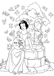 snow white coloring pages for kids printable free