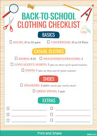 10 Essentials For A Kid by A Back To Clothes Checklist To Keep You From Blowing That