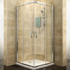 B Q Shower Doors by Cooke U0026 Lewis Deluvio Square Corner Entry Sliding Shower Enclosure
