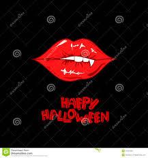 happy halloween poster with vampire lips royalty free stock photos