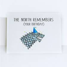 of thrones birthday card of thrones starks the jon snow wolves the