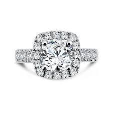Cushion Cut Halo Diamond Engagement Ring In Platinum Segner U0027s Jewelers Caro74 Cushion Shaped Halo Diamond Engagement