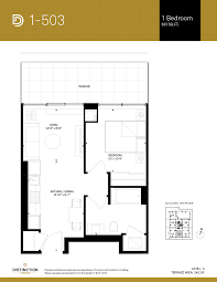 1 Bedroom Condo Floor Plans by One Bedroomdistinction Condos