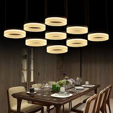 home office led ring pendant lights post modern large led