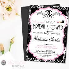 black and white bridal shower invitations best shower