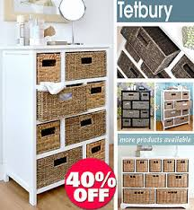 Wicker Basket Bathroom Storage Tetbury Large Storage Unit With Wicker Baskets Bathroom Storage