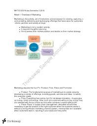 mktg1203 final exam notes mktg1203 marketing managment thinkswap