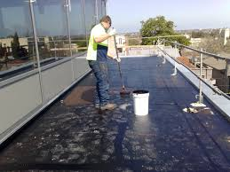 Surecoat Roof Coating by Waterproofing Flat Concrete Roof Using Liquid Rubber Youtube